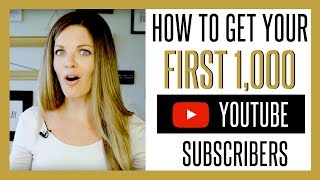 Video How to Get Your First 1000 YouTube Subscribers FAST 2017 MP3, 3GP, MP4, WEBM, AVI, FLV Oktober 2018