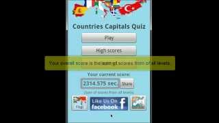 Countries Capitals Quiz YouTube video