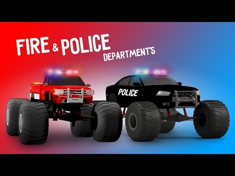 Video Police Monster Truck & Fire Monster Truck Cartoon Compilation | Fire Brigade | Rescue City Heroes download in MP3, 3GP, MP4, WEBM, AVI, FLV January 2017