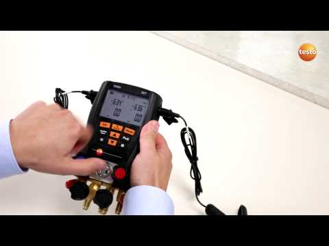 testo 557 - Step 2 - How to change the Basic Settings