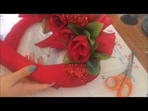 feltro - come creare una decorazione per san valentino