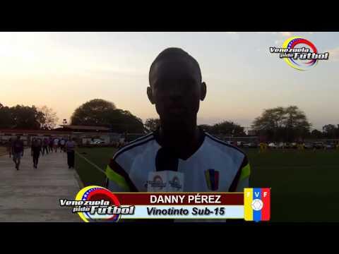 Declaraciones de Danny Perez, jugador de la Vinotinto Sub 15