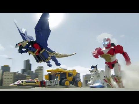 Power Ranger Ninja Steel   Primera Batalla con los Zords - Capitulo 2