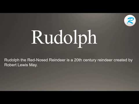 How to pronounce Rudolph | Rudolph Pronunciation | Pronunciation of Rudolph