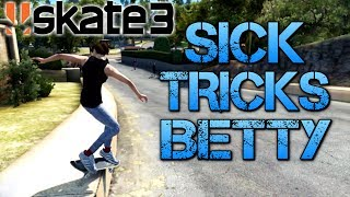 Skate 3 - Part 11   SICK TRICKS BETTY   Playing on easy mode
