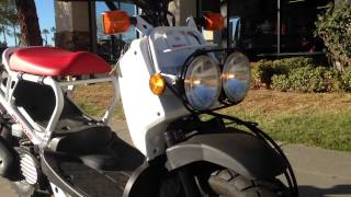 5. 2014 Honda Ruckus White Red