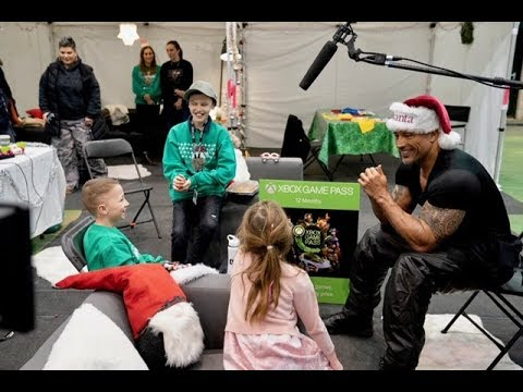 The Rock Makes Wishes Come True on Set of Hobbs & Shaw