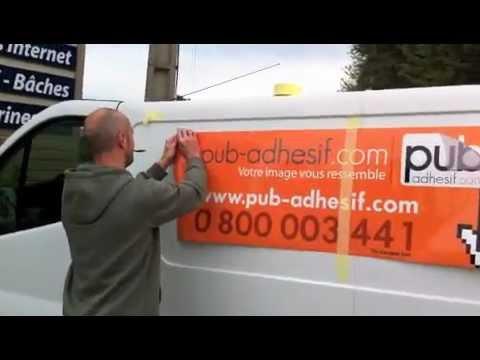 Pose d'autocollant sur voiture - Stickers publicitaires adhesif par Pub-adhesif.com