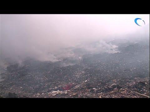 Ветер принес в Малую Вишеру дым с тлеющего полигона ТБО
