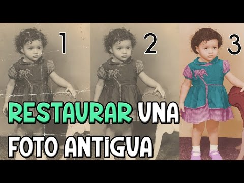 PHOTOSHOP | Restaurar Una Foto Antigua | Regalo [PARTE 1]