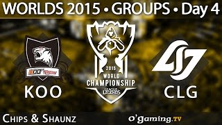 Koo Tigers vs Counter Logic Gaming - World Championship 2015 - Phase de groupes - 04/10/15
