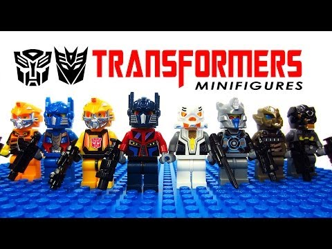 LEGO Transformers: Age of Extinction KnockOff Minifigures Optimus Prime, Megatron, Bumblebee