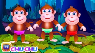 Five Little Monkeys Jumping On The Bed | Part 1 - The Naughty Monkeys | ChuChu TV Kids Songs