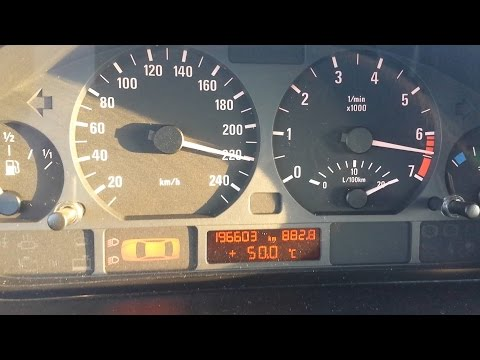 BMW 320i e46 0-Vmax Acceleration