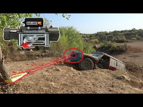Harbor Freight 12000lb Winch CLIFF Test!