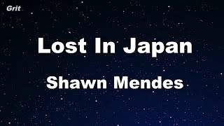 Video Lost In Japan - Shawn Mendes Karaoke 【No Guide Melody】 Instrumental MP3, 3GP, MP4, WEBM, AVI, FLV April 2018