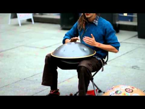 musician - http://www.hanginbalance.com is where you can find his cds Street performer plays a instrument i have never seen before pretty cool SUBSCRIBE & SHARE thanks!...