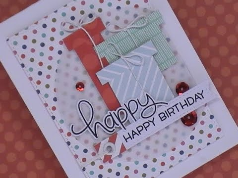 Birthday wishes for best friend - Happy Day Series / Using What's In Our Stash / Birthday Card using Patterned Paper