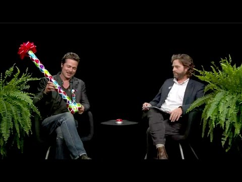two - Brad Pitt is Zach Galifianakis' latest guest on the comedian's Internet talk show, 'Between Two Ferns.