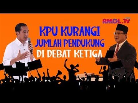 KPU Kurangi Jumlah Pendukung Di Debat Ketiga