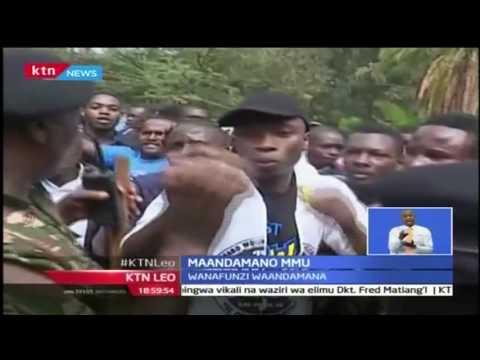 KTN Leo: Maandamano ya wanafunzi wa chuo cha MMU, 27/9/2016