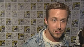 """Harrison Ford says he had a great time working with """"wonderful"""" Ryan Gosling on Blade Runner 2049 as the pair attend Comic-Con. Report by Sarah Duffy."""
