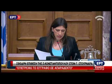Επιστρέφει ως «απαράδεκτη» την Έκθεση της ΤτΕ η Ζωή Κωνσταντοπούλου