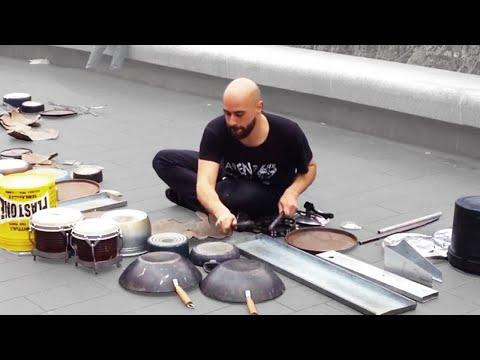 dario rossi street techno drummer