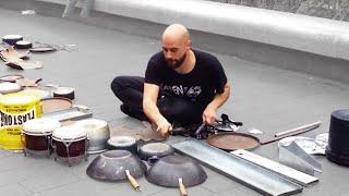 Video Dario Rossi - Great techno house street drummer MP3, 3GP, MP4, WEBM, AVI, FLV Juli 2017