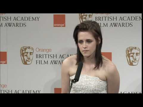 Kristen Stewart on her Bafta win and Twilight Video