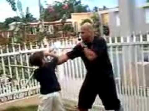 Advanced Kajukenbo Self-Defense System (My son training in Kali)