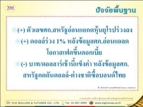 YLG บทวิเคราะห์ราคาทองคำประจำวัน 07-09-16