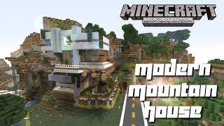 Minecraft Xbox 360: Cool Modern Mountain House Tour!