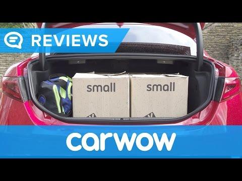 Alfa Romeo Giulia 2017 practicality review | Mat Watson Reviews (видео)