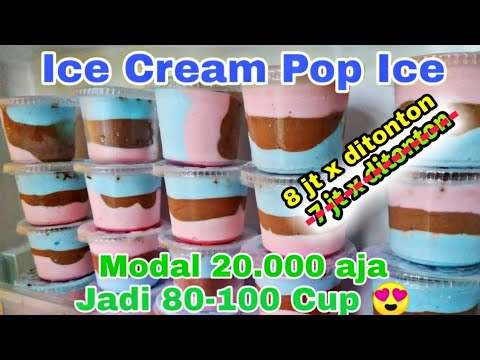 IDE BISNIS || Cara Membuat Ice Cream Pop Ice Home Made