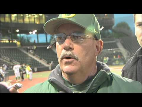 oregon - Oregon Head Coach George Horton speaks to the media after Oregon's 3-0 win over Oregon State in the first game of this year's Civil War.