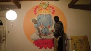 the AyaGanesha mural time-lapse by ZOSO1