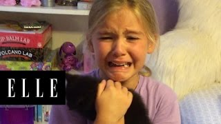 Little Girl is Surprised With a Brand New Kitten   ELLE