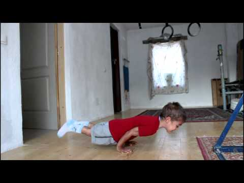 5YearOld Boy Does 90 Degree Pushups