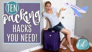 DOLLAR STORE, FREE & CHEAP Packing Hacks You MUST Know! 🙌✈️