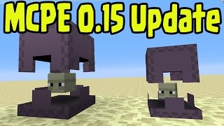 Minecraft Pocket Edition Update 0.15.0 New Features Announced! Shulker, Features, Blocks (MCPE 0.15)