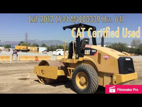 CATERPILLAR VIBRATORY SINGLE DRUM SMOOTH CS44 equipment video dXL1YasN3L8