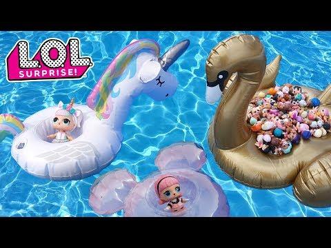 LOL Surprise Summer Pool Party   L.O.L. Surprise Mini Floaties Fun Series 1 + 2 + 3