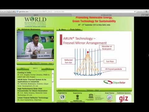 Presentation at World Renewable Energy Technology Conference