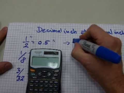 how to convert inch to decimal