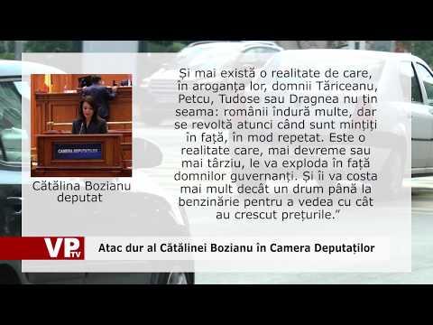 Atac dur al Cătălinei Bozianu în Camera Deputaților