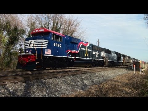 NS - Thanks first to all our Veterans - and second to Norfolk Southern for this Unit! Knowing the NS 6920 came into Enola Yard under the cover of darkness on Thur...