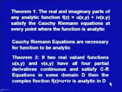 Mod-2 Lec-19 Funktionen Complex Variables Teil - 1