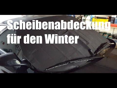 Scheibenabdeckung für den Winter - Eisschutzfolie aus Stoff