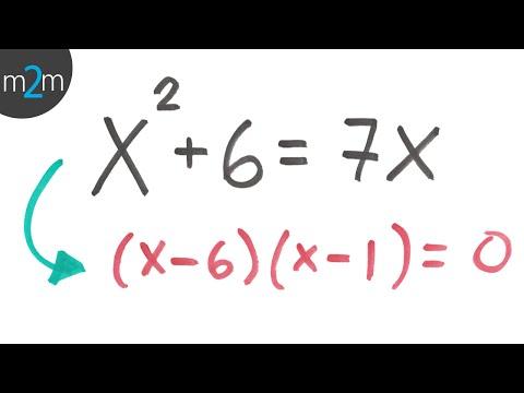 Lösen quadratischer Gleichungen durch Faktorisierung